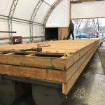 Decking platform walkway